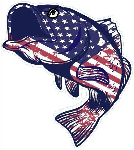 bass fishing stickers - 8