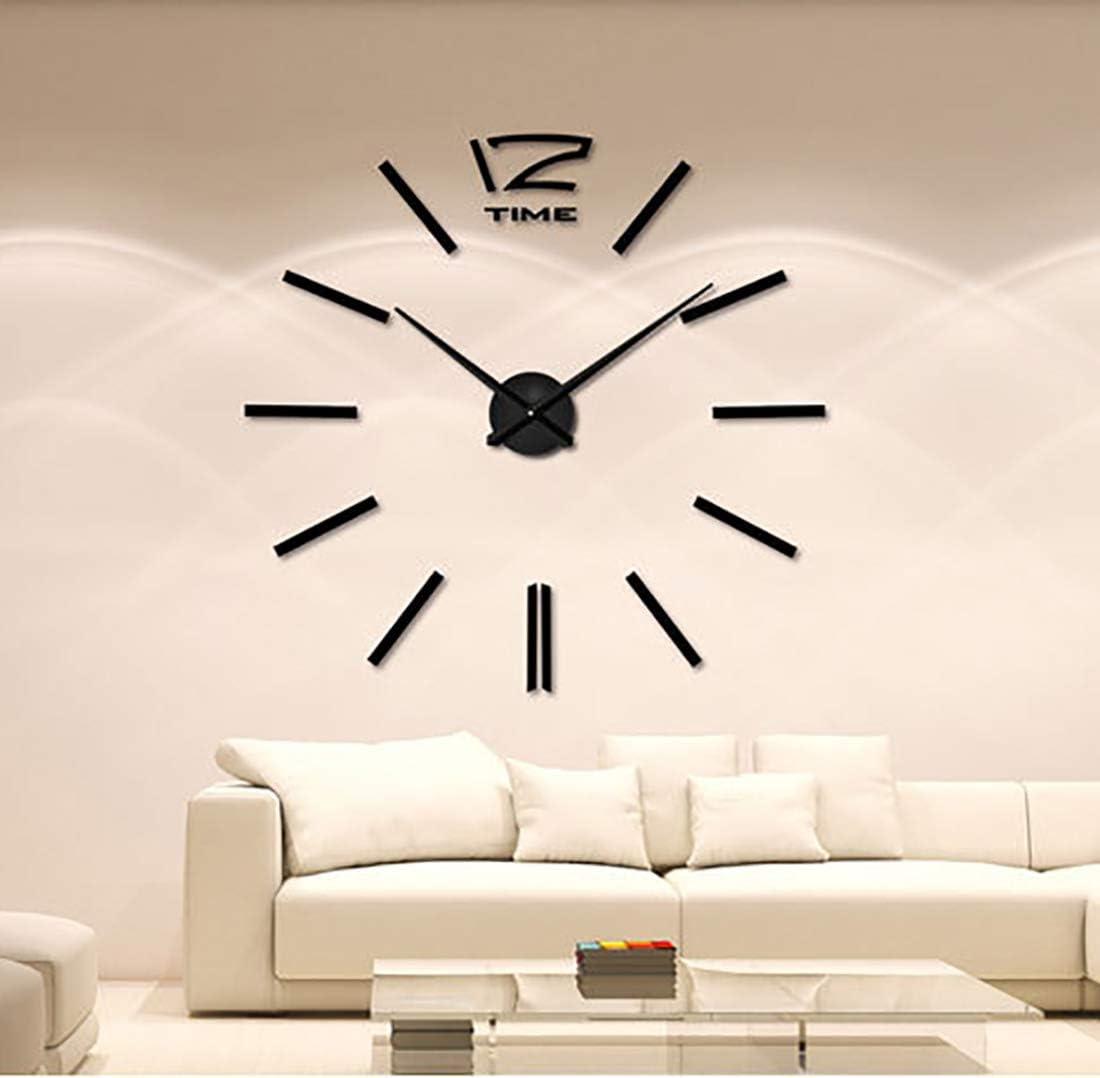 億騰 3D DIY 手作り クロック 掛け時計 壁時計 ウォールクロック ウォールステッカー インテリア シンプル おしゃれ フリー配置 ブラック