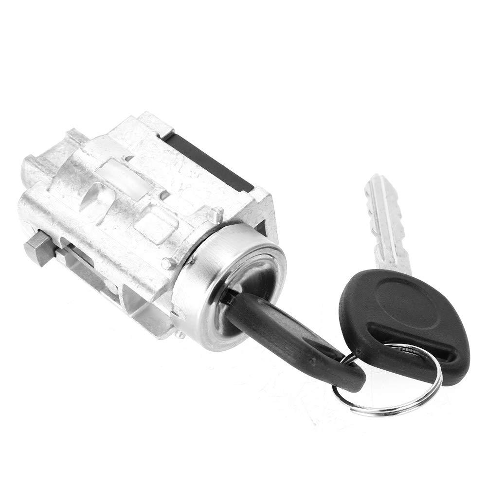 Evgatsauto Ignition Lock Cylinder with Switch Key Replacement Ignition Lock Key Fits for Chevy Malibu Impala Olds Alero Pontiac Grand 12458191 12533953 1582350 1916837 25832354 US-286L