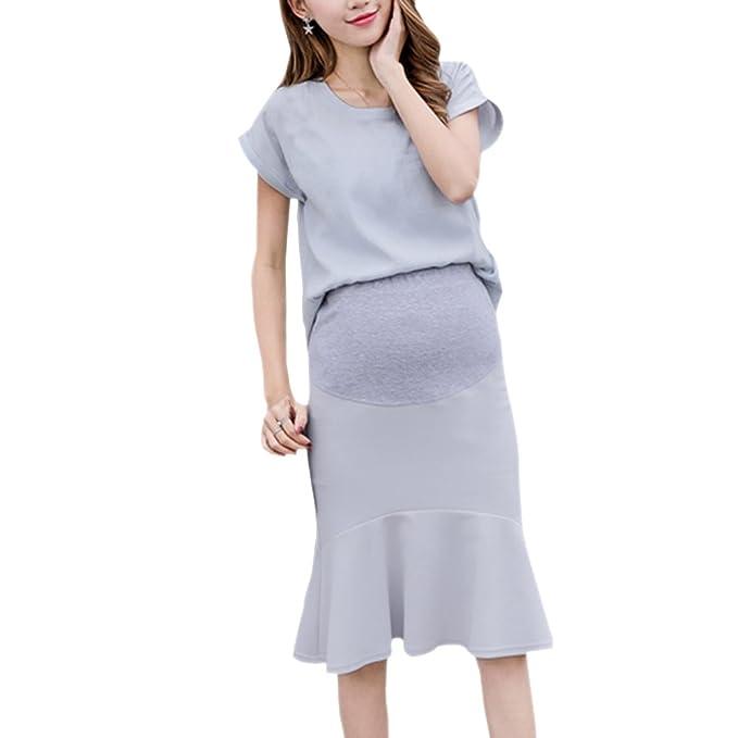 KINDOYO Falda de maternidad, embarazo de las mujeres Moda Casual OL Mermaid Cadera-Lápiz falda envuelta: Amazon.es: Ropa y accesorios