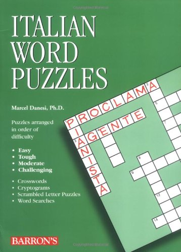 Italian Word Puzzles (Foreign Language Word Puzzles) by Barron's Educational Series