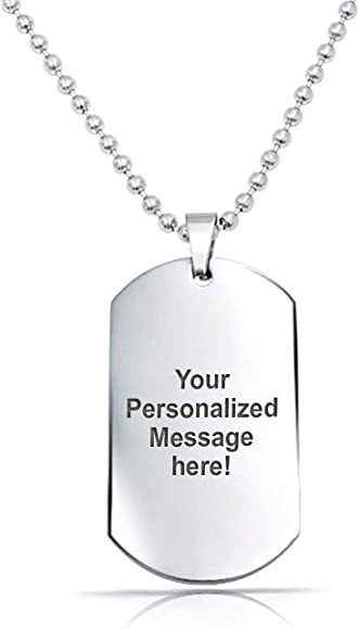 Personalised The Lord/'s Prayer Engraved Gold Army Dog Tag /& Chain In Gift Box