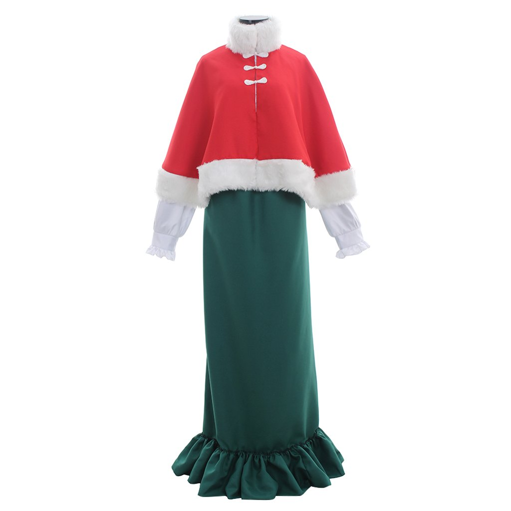 1900s, 1910s, WW1, Titanic Costumes 1791s lady Victorian Carol Singer School Mistress Costume Dress For Women $103.60 AT vintagedancer.com