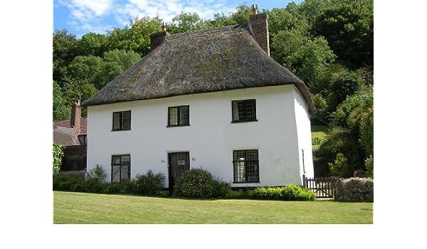 MILTON ABBAS COTTAGE en Dorset A4 para fotografías tamaño + soporte: Amazon.es: Hogar