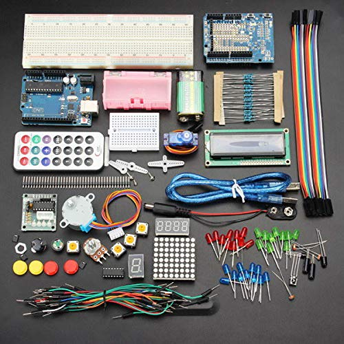 Learn Electronics Starter Kit - Arduino Starter Kit - UNO R3 Basic Learning Starter Kits Upgrade Version For (Arduino Kit Starter)