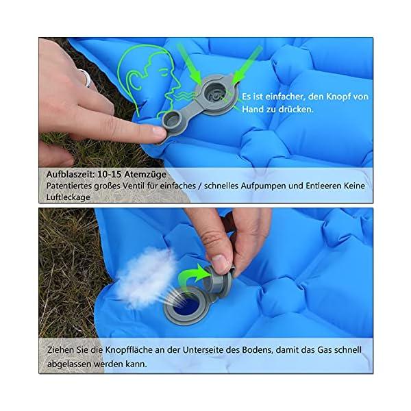 BIFY Isomatte Camping Schlafmatte Ultraleicht Kleines Packmaß. Aufblasbare Luftmatratze für Outdoor Camping, Reise…