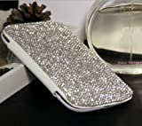 ACC5Star(TM) Top Luxurious Bling Crystal Diamante Chain Cover Case For Samsung Galaxy S5 i9600 Phone + High Quality Random Color Stylus and Anti-dust Plug + 10*15 CM Green Soft Clean Cloth with LOGO