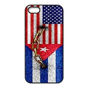 Cuba Flag Custom Protective Phone Case for iPhone 5,5S by Nickcase