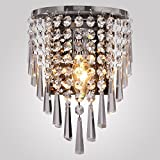 Maxmer Modern Crystal Wall Light Decorative Wall Lamp Sconce Shade Fixture Mounted Lights for Bedroom Corridor Restaura