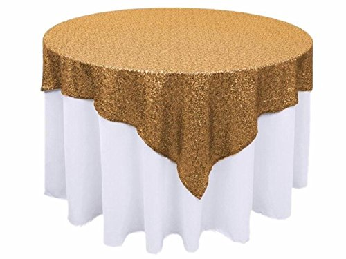 50''x50'' Square Gold Sequin Tablecloth Select Your Color & Size Can Be Available ! Sequin Overlays, Runners, Gatsby Wedding, Glam Wedding Decor, Vintage Weddings -