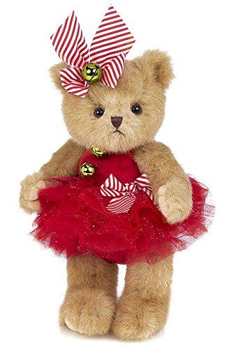 Bearington Jenny Jingles, Christmas Plush Stuffed Animal Ballerina Teddy Bear, 10 inches from Bearington Collection