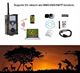 Lixada 2G GSM MMS/SMS/SMTP 16MP 0.5S Trigger Time 120° Wide Lens Portable Wildlife Hunting Camera HD Digital Infrared Scouting Trail Camera 940NM IR LED Night Vision 1080P Video Recorder