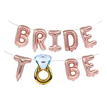 Kuncg Foil Ballon Bride To Be Buchstaben Luftballons Party Zimmer  Dekoration Junggesellinnenabschied Accessoires Brautdusche Valentinstag  Abschlussball