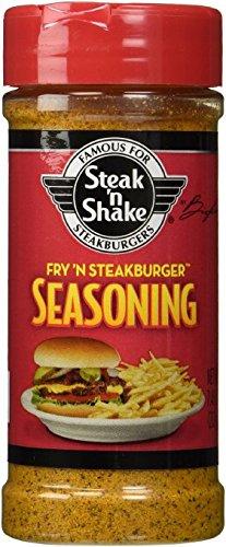 Steak 'N Shake Fry 'N Steakburger Seasoning 7.48 oz (Pack of 2) (Meat Steak)