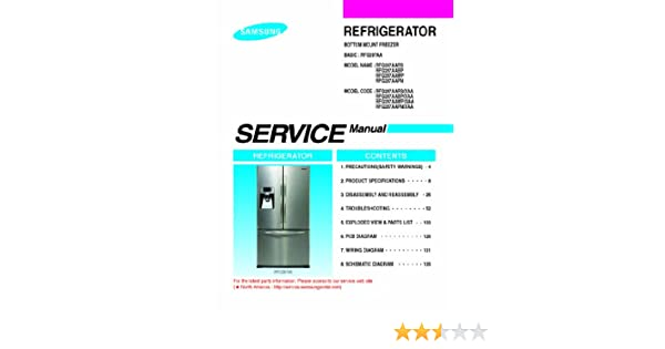samsung rfg297aars xaa service manual samsung amazon com books
