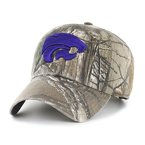 State Wildcats Cap - NCAA Kansas State Wildcats Realtree OTS Challenger Adjustable Hat, Realtree Camo, One Size