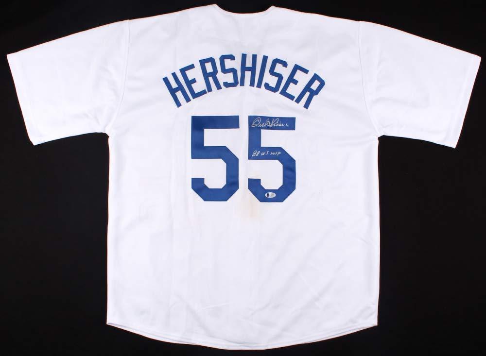 Orel Hershiser 署名入りドジャーズ レプリカユニフォーム 88 WS MVP (Beckett COA) B07JFN2V28