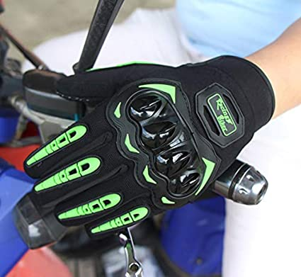 RONSHIN Auto e Moto Guanti da Moto Touch-Screen Guanti da Moto Protezione Bici elettrica Bicicletta da Corsa Black L