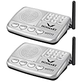 Wireless Intercom System Hosmart 1/2 Mile Long Range 7-Channel Security Wireless Intercom System for Home or Office (2018 New Version) [2 Stations Silver]