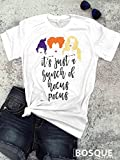 Full Color Hocus Pocus inspired T-Shirt / T-shirt Top Tee Shirt design Halloween Shirt It's Just a Bunch of Hocus Pocus - Ink Printed