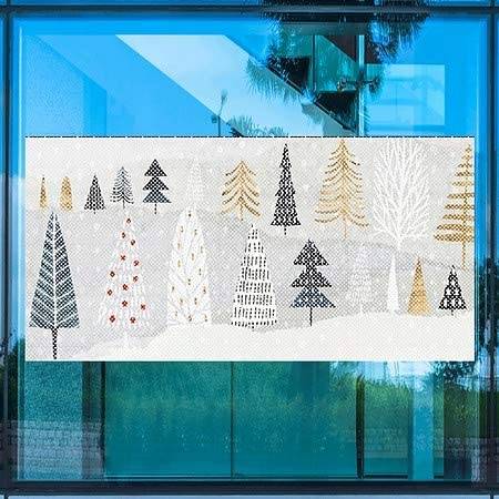 48x96 5-Pack Holiday Decor Ornaments Perforated Window Decal CGSignLab