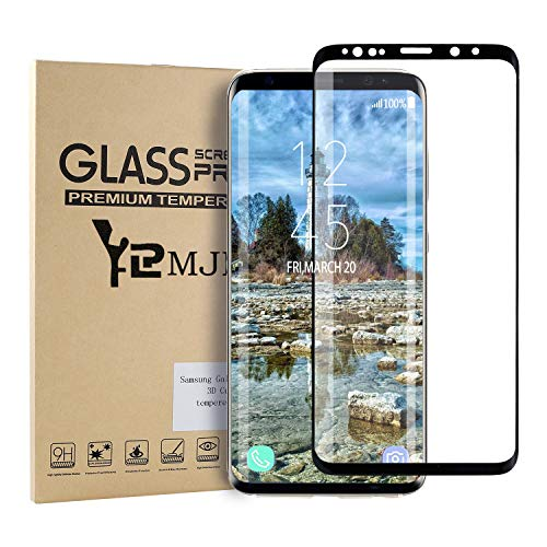 YRMJK Samsung Galaxy S9 Screen Protector,3D Curved Dot Matrix Full Screen Compatible Samsung Galaxy S9 Tempered Glass Screen Protector (5.8'') with Easy Application Tray (NOT S9 Plus) (Case Friendly) by YRMJK