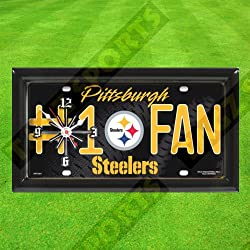 PITTSBURGH STEELERS WALL CLOCK - BY TAGZ SPORTS