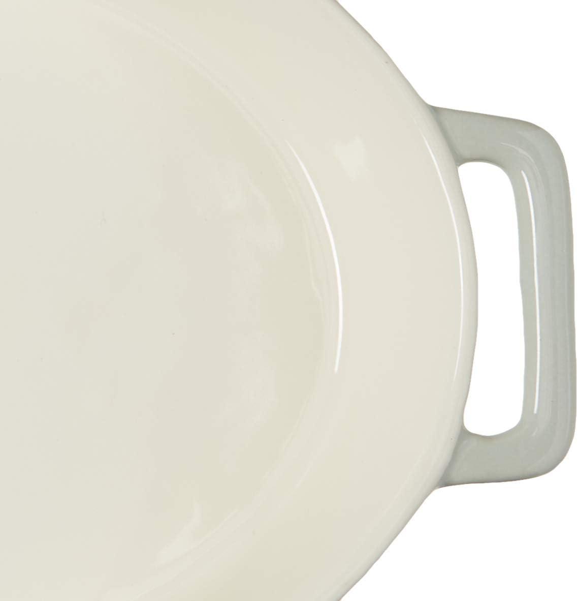 Amazon Com Le Regalo Stoneware Oval Baking Dish 14x9 5x2 5 White Kitchen Dining