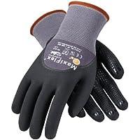 ATG 34-845/S MaxiFlex Endurance - Nylon, Micro-Foam Nitrile 3/4 Grip Gloves - Black/Gray - Small - 12 Pair Per Pack by ATG