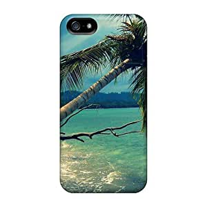 Durable Case For The Iphone 5/5s- Eco-friendly Retail Packaging(palm Tree In Storm Nature Landscape)