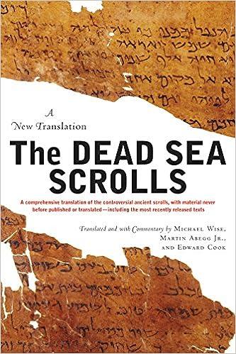 The Dead Sea Scrolls: A New Translation  pdf