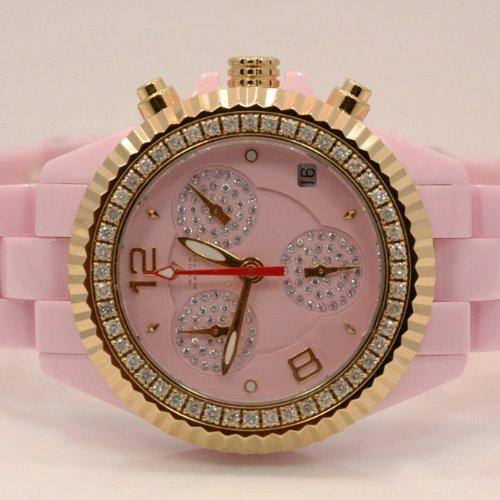 Aqua Master Ladies Ceramic Diamond Watch 1.25ctw W1153 by Aqua Master