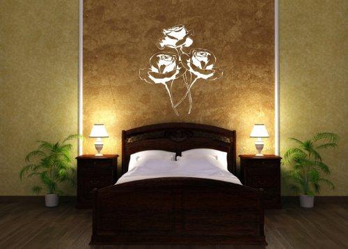 Wandtattooladen Wandtattoo - - - Rosan - Blaumen der Liebe Größe 88x95cm Farbe  weiß B013R89Z34 | Die erste Reihe von umfassenden Spezifikationen für Kunden  a53119