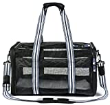 Medium Sized Deluxe Soft Sided Pet Carrier – Airline Approved – Stylish Quilted Design For Sale