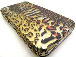 GOLD MIXED ANIMAL Hard Plastic Design Matte Case for Apple iPhone 4 / 4S [In Twisted Tech Retail Packaging]