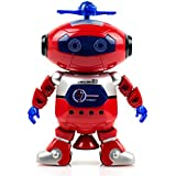 Purplecraft Live Action Dancing Red Robot with 360 Dance Movements, Flash Lights That Entertain the Kids of All Ages and for both Girls and Boys Music to Accompany the Dance