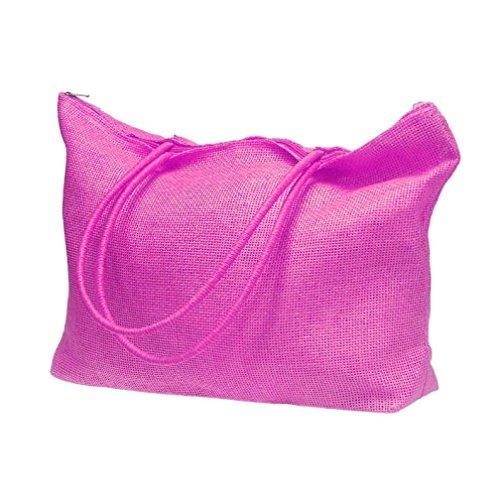 de bonbons Tonsee paille grands couleur vif Plage Rose Blanc Simple Femmes Sac de sacs Casual épaule RAwRIqFW