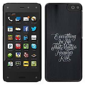 LECELL--Funda protectora / Cubierta / Piel For Amazon Fire Phone -- Todo en la vida --