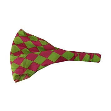 Hot Pink and Neon Green Checkerboard Pattern Soft Wide Headband Boho Head  Wrap (Keshet Accessories f12e321c673
