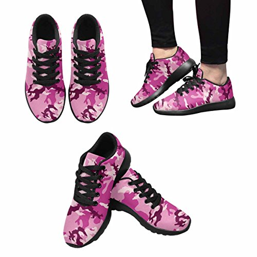 InterestPrint Womens Jogging Running Sneaker Lightweight Go Easy Walking Comfort Sports Athletic Shoes Fashionable Camouflage Pattern sMOfR32rt