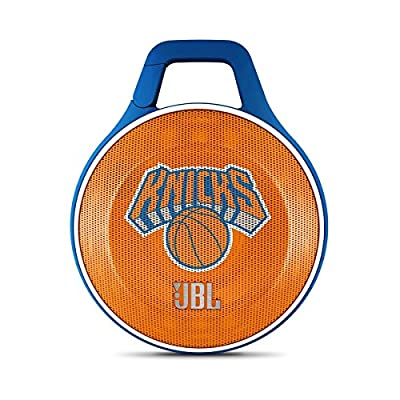 JBL Clip NBA Edition Portable Bluetooth Speaker with Integrated Carabiner (New York Knicks)
