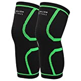 5BILLION Knee Brace Compression Sleeve Knee Support for Powerlifting, Arthritis, Running, Workout, Joint Pain Relief & Cross Training-Both for Men & Women 1 Pair