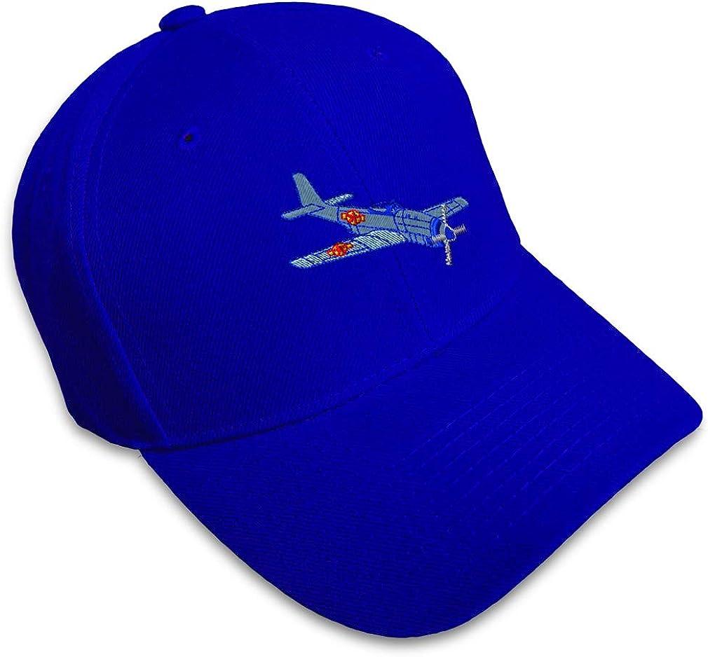 Custom Baseball Cap Plane P-51 Style B Embroidery Dad Hats for Men /& Women