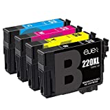 E-jet Remanufactured Ink Cartridge Replacement for Epson 220XL ( Black,Cyan,Magenta,Yellow , 4-Pack )