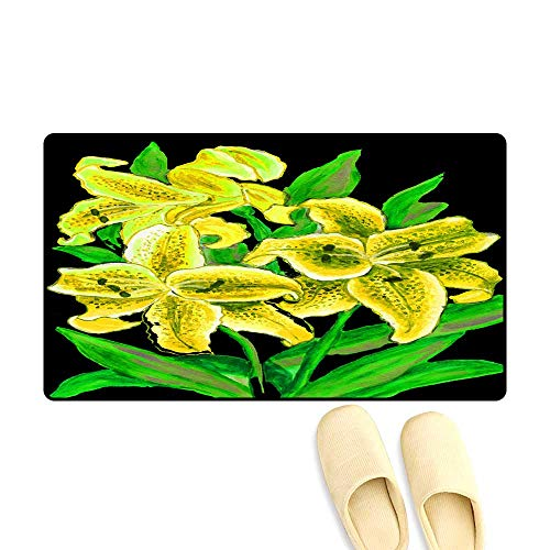 Customize Door mats for Home Mat Illustration Lilies