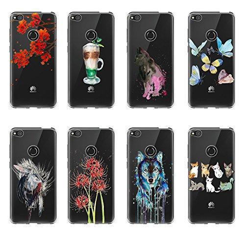 Lite Trasparente Bordo 2017 Copertura Vanki Tpu Proteggi Cristallo Case Color2 Silikon Sottile Custodia Morbida Completa Huawei 2017 Di Cover P8 FWF1tZB