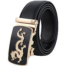 Tanpie Men's Leather Belt Automatic Alloy Buckle 35mm Ratchet Belt
