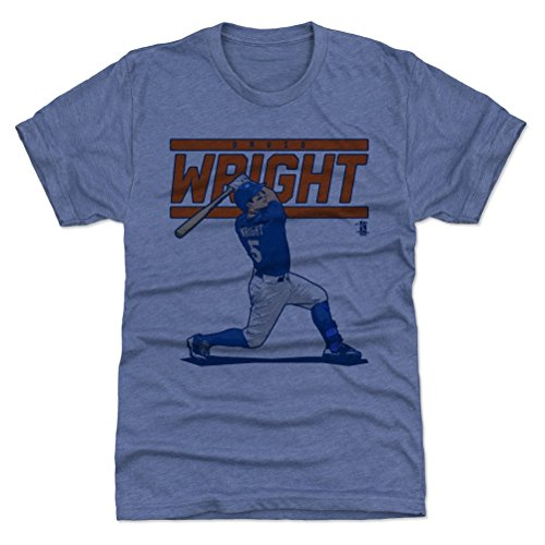 500 LEVEL David Wright Triblend Shirt Medium Tri Royal - New York Baseball Men's Apparel - David Wright Score O