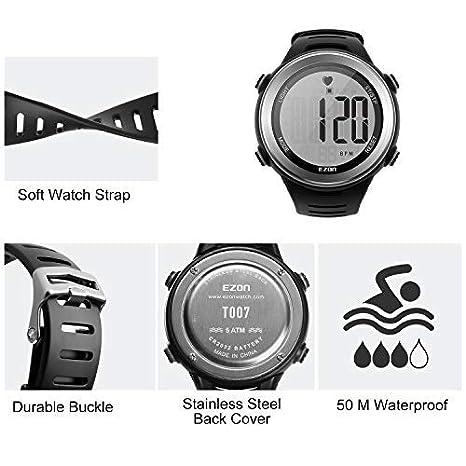 Amazon.com: ezon de los hombres reloj deportivo digital ...