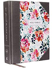 KJV, Journal the Word Bible, Cloth over Board, Pink Floral, Red Letter, Comfort Print: Reflect, Journal, or Create Art Next to Your Favorite Verses